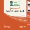 Fermented Skate Liver Oil - Liquid - Orange, 6.1 fl.oz. (180mL)