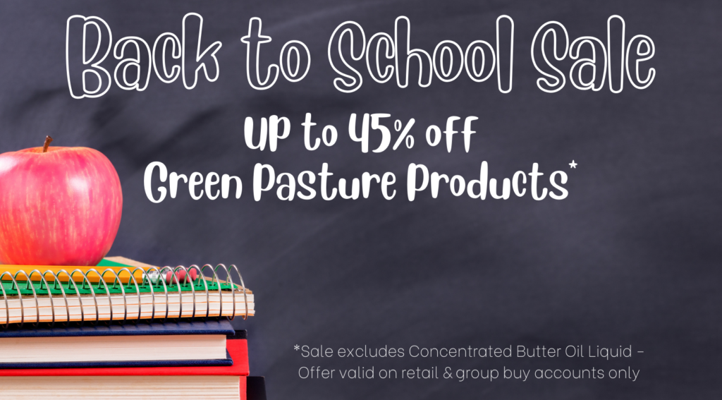 Green Pasture Back To School Sale - 45% off all products