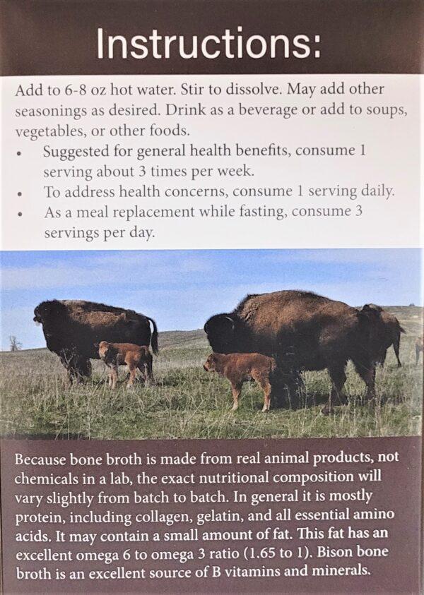 Bison broth details